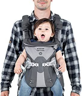 Mission Critical | S.02 Baby Carrier | Baby Gear for Dads | Front & Back Carrier | Titanium