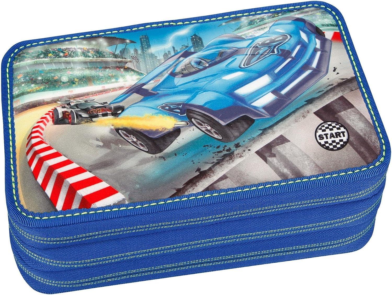 Depesche 10007 - - - Monster Cars Federtasche 3 fach, mit LED, ca. 20 x 13 x 7 cm B07958JX41 | Vogue  214095