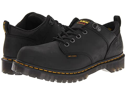 Dr. Martens Ashridge Ns- Black Industrial Greasy oxfords