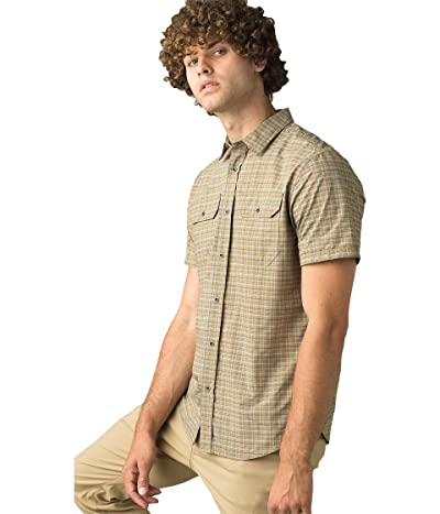 Prana Cayman Plaid Short Sleeve (Nomad) Men