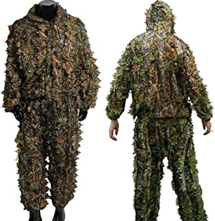 IMIFUN Hunting Clothes New 3D Maple Leaf Bionic Woodland Camo Ghillie Suits Sniper birdwatch Airsoft Hunting Deer Stalking...