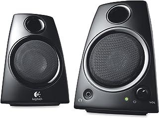 Logitech Z130 2-Piece 3.5mm Black Compact Computer Multimedia Speaker Set(Renewed)