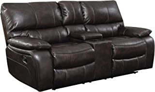 Coaster Home Furnishings 601932 CO-601932 Willemse Collection Motion Loveseat, Two-Tone Dark Brown