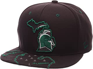 Zephyr NCAA Michigan State Spartans Men's Stateline Snapback Cap, Adjustable Size, Charcoal
