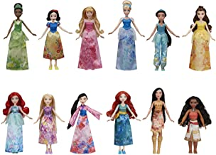 Disney Princess Royal Collection, 12 Fashion Dolls -- Ariel, Aurora, Belle, Cinderella, Jasmine, Merida, Moana, Mulan, Poc...