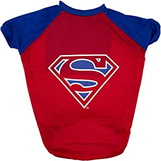 DC Comics for Pets Superman T-Shirt for Dogs, Medium (M) Superman Logo Dog Tee | Soft and Comfortable Clothes for Dogs, Re...