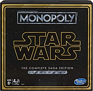 Monopoly: Star Wars Complete Saga Edition Board Game for Kids Ages 8 & Up