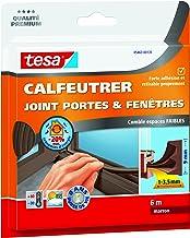 Tesa 05463-00135-00 afdichtstrips voor deuren en ramen, 6 m x 9 mm x 4 mm