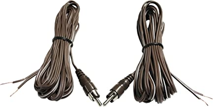 Miniature Speaker Cable(12ft.): a pair of RCA male to stripe open end.