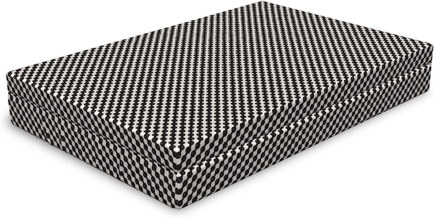 Lunarable Geometric Dog Bed Hand Monochromatic 5 ☆ Max 41% OFF popular Inspired Drawn D