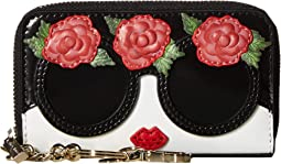 Avril Stace Face Flowers Small Wallet