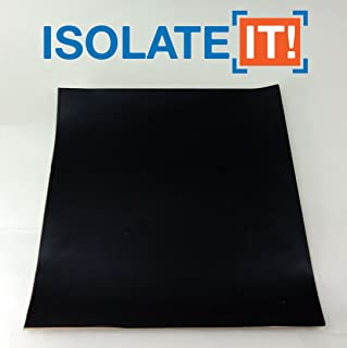 Isolate It!: Sorbothane Acoustic and Vibration Thin Film Square with 3M Adhesive (0.040 x 7 x 7