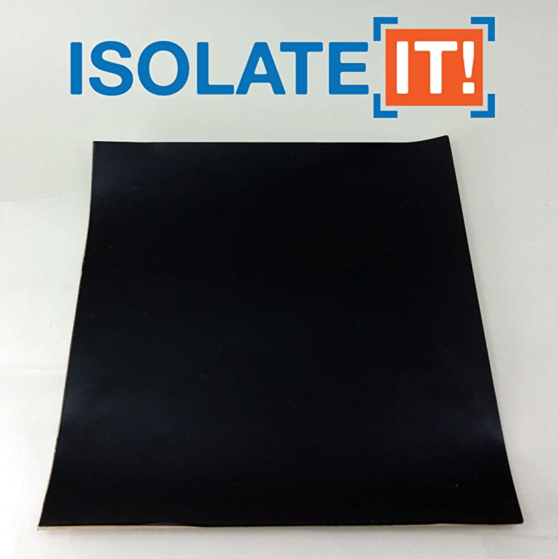 Isolate It!: Sorbothane Acoustic and Vibration Thin Film Square (0.080 x 6 x 6