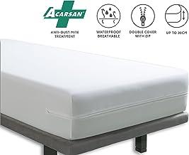 Tural Funda Colchón Anti ácaros Impermeable y Transpirable, Talla 150x 190/200cm
