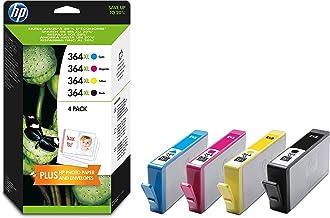 HP 364XL - Combo Pack de ahorro de 4 cartuchos de tinta Original HP 364XL de álta capacidad Negro, Cian, Magenta, Amarillo para HP DeskJet, HP OfficeJet y HP PhotoSmart