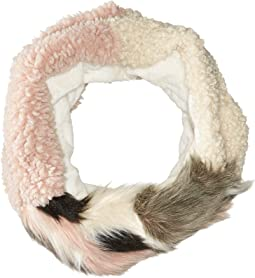 Betsey Johnson - Patchwork Shearling Cowl