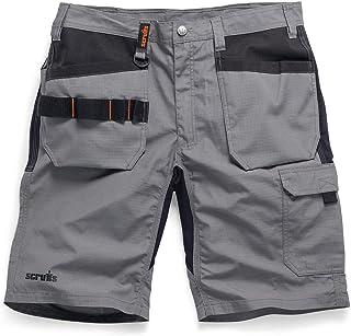 """New SCRUFFS LINE **** Trade Flex Holster Shorts Work WEAR Graphite Grey Size 30"""" - 40"""" Waist (34"""" T54651)"""