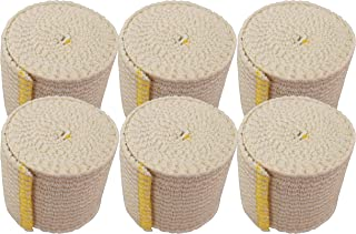 "NexSkin Cotton Elastic Bandages w/Hook Loop Closure, 2"" Width - 1, 2, 3 6 Pack"