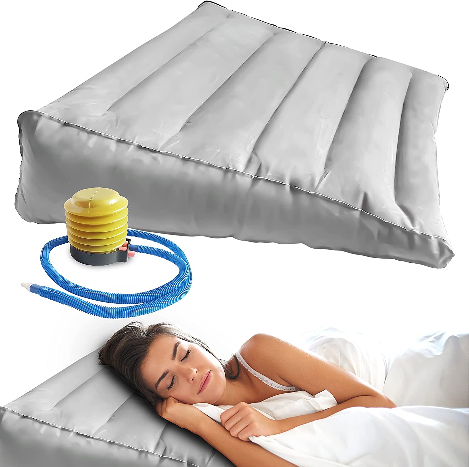 Inflatable Wedge Pillow San Diego Mall - Elevate Popular product Knee Leg Back Your Support