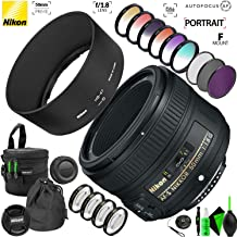 Nikon AF-S NIKKOR 50mm f/1.8G Lens with Accessory Kit with Creative Filter Kit and Pro Cleaning Accessories Kit2