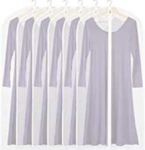 6 Pack - Simplehouseware 50-Inch Translucent Garment Bags with Zipper for Suits, Dresses, Costumes, Uniforms