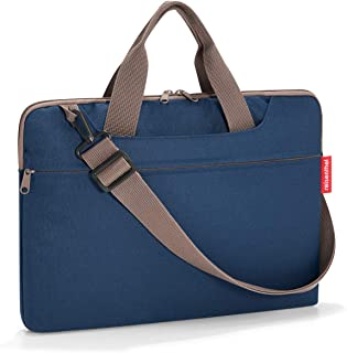 reisenthel Netbookbag, Slim Padded Laptop Case with Adjustable Shoulder Strap and Carrying Handles, Durable Water-Repellent Fabric Blue Dark Blue One_Size