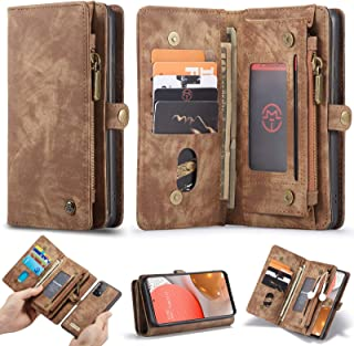 WintMing Compatible with Samsung Galaxy A72 Wallet Case with Card Holder Magnetic Detchable Flip Leather Cover Stand Featu...