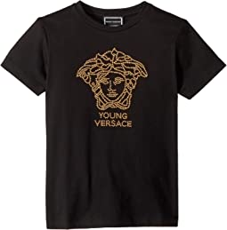 Short Sleeve Embellished Medusa Logo T-Shirt (Big Kids)