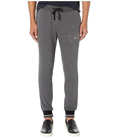 Emporio Armani Iconic Terry Trousers (Dark Gray Melange) Men