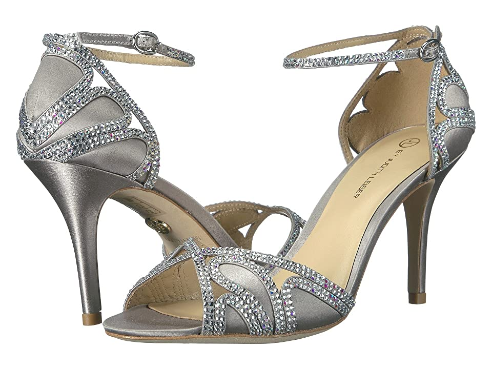 JL by Judith Leiber Magna (Silver) High Heels