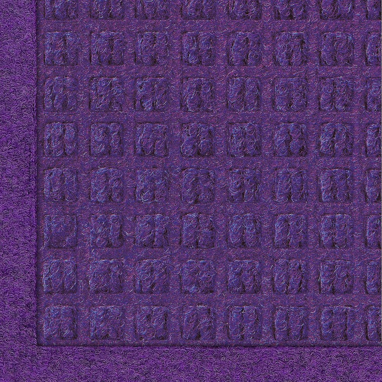 Andersen 280 Waterhog Fashion Polypropylene Fiber Entrance Indoor Outdoor Floor Mat, SBR Rubber Backing, 12-Feet Length X 3-Feet Width, 3 8-Inch Thick, Purple