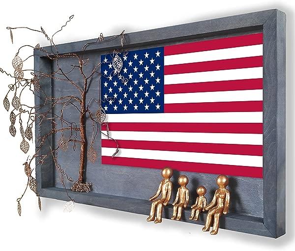 爱国的 8 号 19 周年青铜周年纪念画框拼贴墙壁装饰 8 号 19 21 年婚礼柳树家谱礼物妻子丈夫男人她妈妈儿子妈妈个性化祖父母礼物