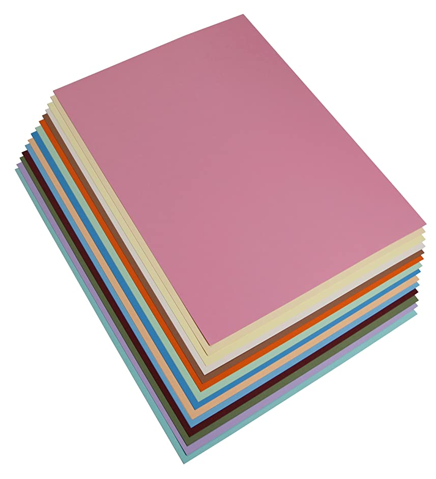Maya 185 g A4 3 Packs of 14 Sheets Pastel Colours Smooth Coloured Card, Cellulose, Multi-Colour, 29.7 x 42 x 0.9 cm