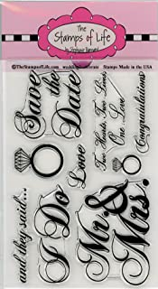 Wedding Stamps for Card-Making and Scrapbooking Supplies by The Stamps of Life - Wedding2Celebrate Invitations