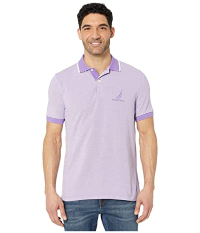 Nautica Oxford Polo (Purple) Men