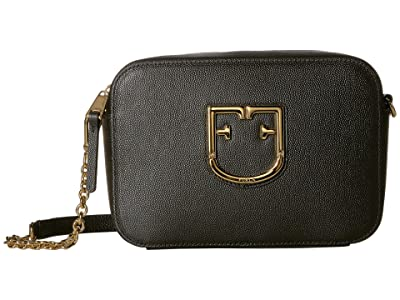 Furla Brava Mini Crossbody (Onyx) Handbags