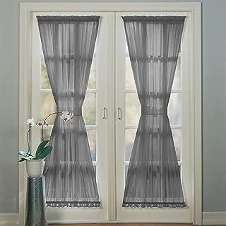 No. 918 Emily Sheer Voile Door Curtain Panel, 59