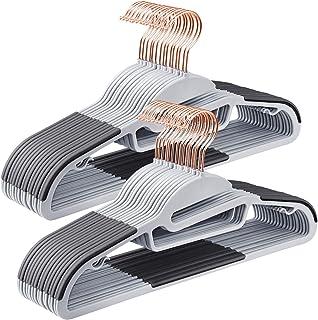 comprar comparacion SONGMICS 30 Perchas para Abrigos, Perchas Plástica de Trajes, Calidad Superior, Apertura en S, Antideslizante, Ahorra Espa...