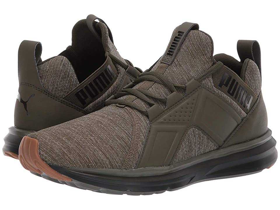 PUMA Enzo Heather Ripstop Fade (Forest Night/Puma Black) Men's Shoes, Green