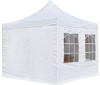TOOLPORT Faltpavillon Pavillon Economy 3x3 m - mit Seitenteilen in weiß Partyzelt Gartenzelt Wasserdicht