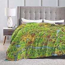 """Baulerd Stardew Valley Map Ultra-Soft Micro Fleece Blanket Couch 60"""""""" x50"""