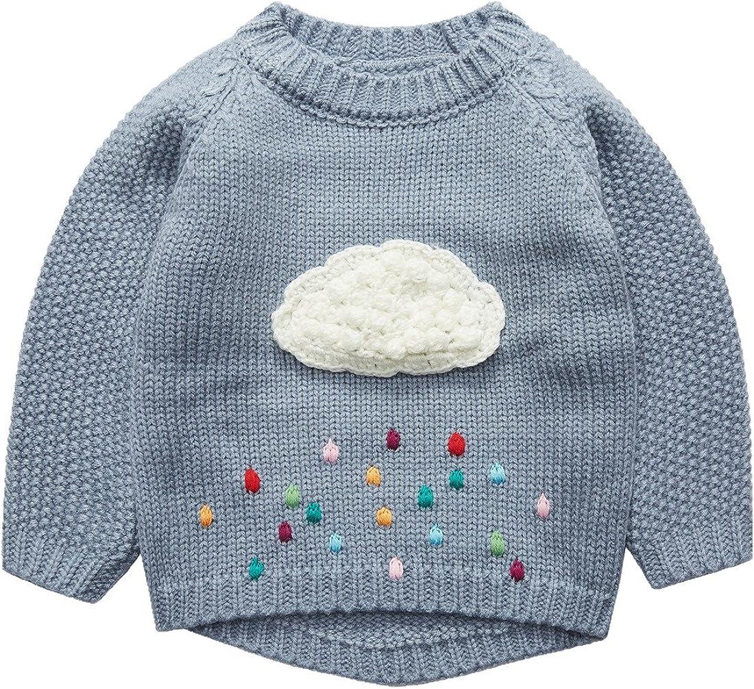 Sooxiwood Little Girls Pullover Sweater Cloud Cute
