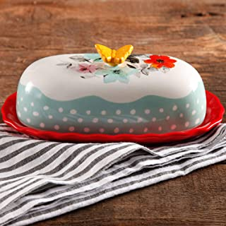 The Pioneer Woman -Flea Market- Two Piece Floral Butter Dish
