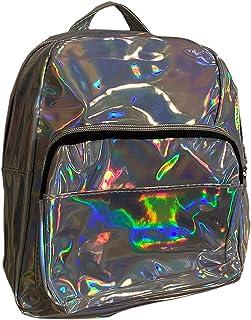 Skye Fashion Rainbow Silver Iridescent Rainbow Color Shifting Mini Backpack