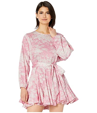WAYF Altonia Long Sleeve Swing Mini Dress (Pink Toille) Women