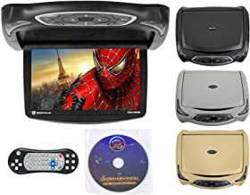 "Rockville RVD14BGB Black/Grey/Tan 14"" Flip Down Car Monitor W DVD/HDMI/Games/USB"