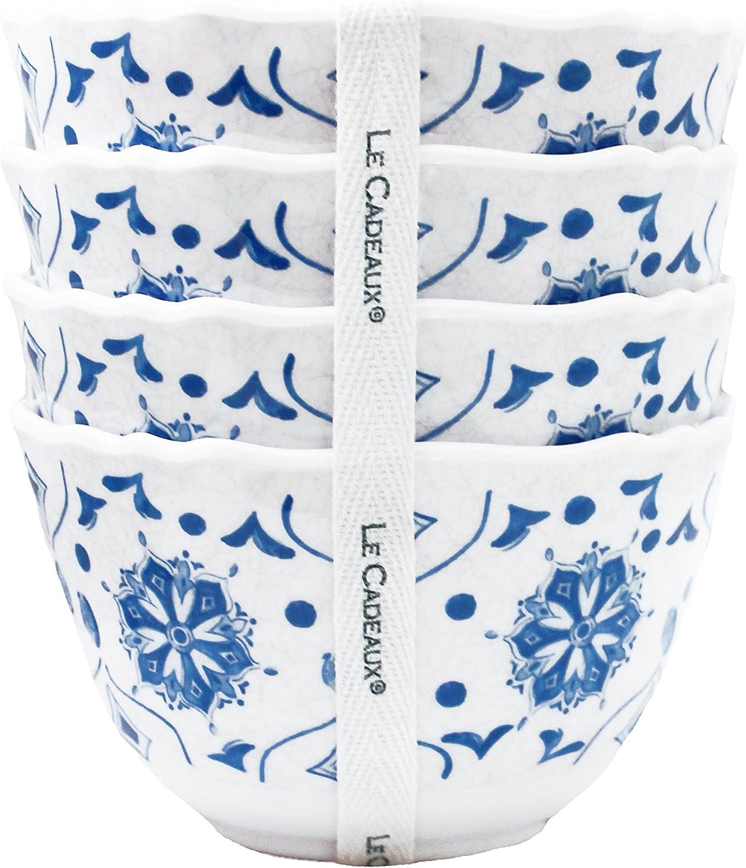 Le Cadeaux 098MRCB Moroccan Blue Bowls Dessert Set Ranking TOP5 Super intense SALE Melamine of