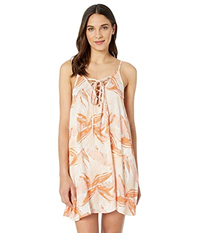 Roxy Softly Love Printed Dress Cover-Up (Bright White Jungle Boogie) Women