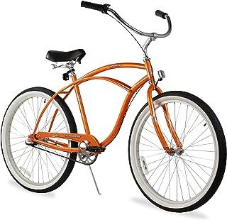 Firmstrong Urban Man Single Speed Beach Cruiser Bicycle, 26-Inch, Matte Brown