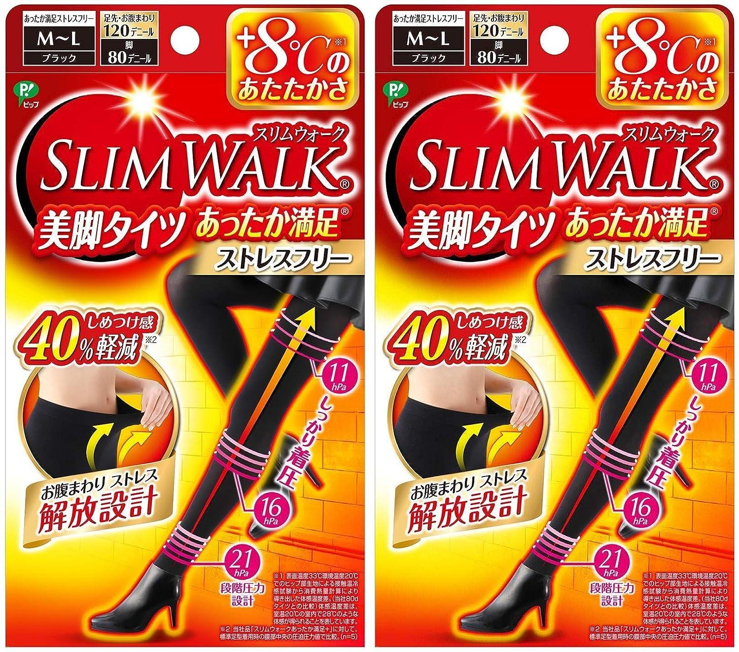 天気クラフトハグ【2個セット】 スリムウォーク (SLIM WALK) 美脚タイツ あったか満足 おそと用 M~Lサイズ